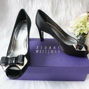 🆕Stuart Weitzman Platform Peep Toe Bow Heel